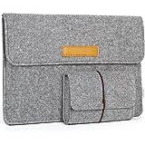 JSVER 13,3 Zoll MacBook Sleeve Laptophülle für MacBook Air/Pro Retina 12,9 Zoll iPad Pro Filz Sleeve Hülle Laptop Ultrabook Notebook Tasche, Graull