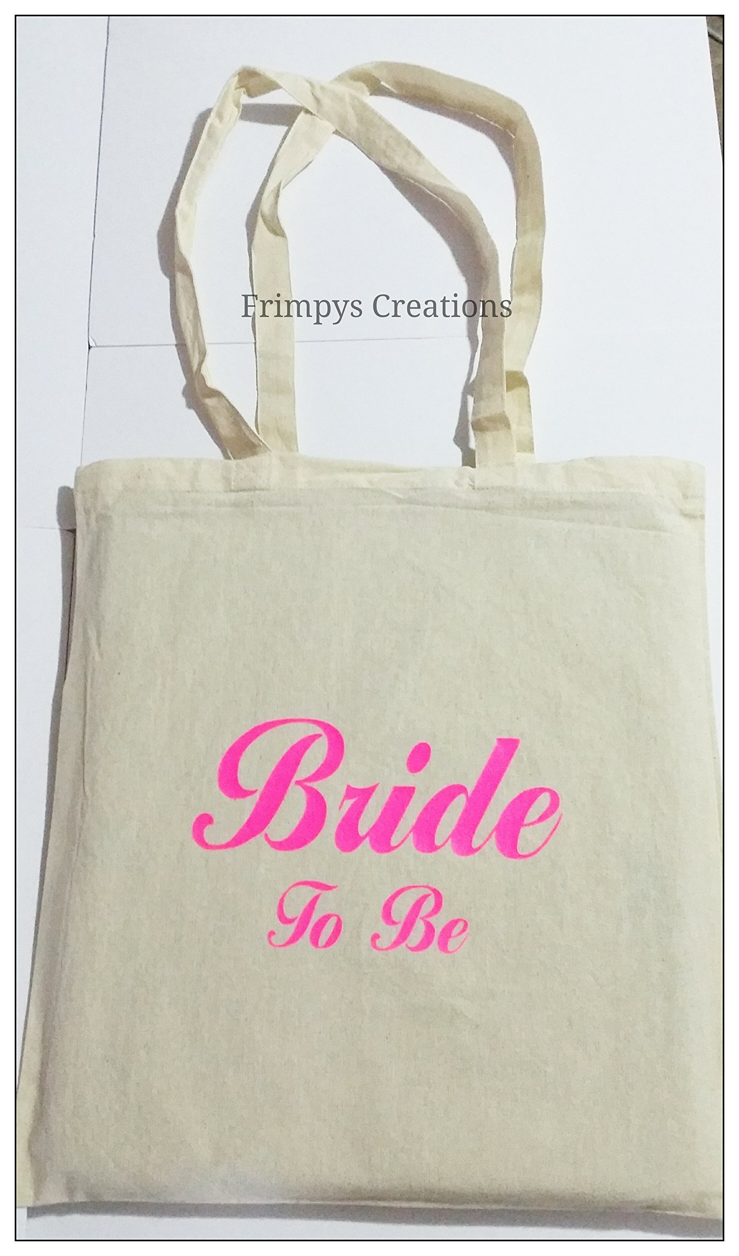 Wedding Favour Tote Bag cotton Printed Gift Present Keep Bride To Be Novelty (BAG) - handmade-bags