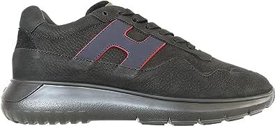 Hogan Sneakers Interactive³ in Nabuk Nere HXM3710AM24OCN2968 Blu Uomo