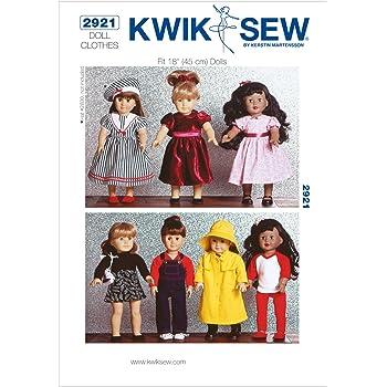 KWIK-SEW PATTERNS Kwik Sew Mustern k2921 Größe passt 18 Puppen Puppe ...