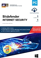 BitDefender Internet Security Latest Version with Ransomware Protection (Windows) - 1 User, 1 Year (Email Delivery in 2 hours - No CD)