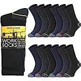 Socksmad Men's Work Socks – Heavy-Duty Thick Socks with Heel and Toe Protection – Over-the-Calf Men's Boot Socks for Mechanic