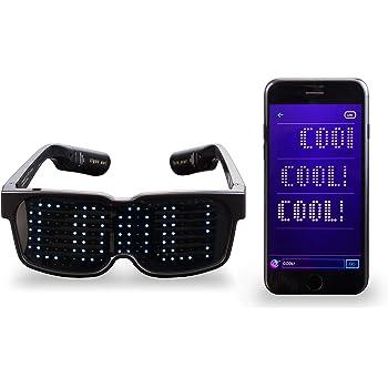 CHEMION - Occhiali LED Bluetooth Unici! – Messaggi sul display, Animazione, Disegni!