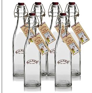 Kilner Clip Top Pink Bottle Clear 1 Litre