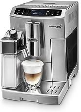 DeLonghi PrimaDonna S Evo ECAM 510.55.M Kaffeevollautomat (1450 W, Digitaldisplay, integriertes Milchsystem, APP Steuerung, Edelstahlgehäuse, Lieblingsgetränke auf Knopdfruck) silber