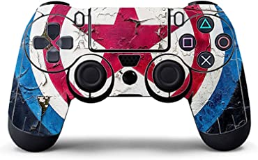Elton PS4 Controller Designer 3M Skin for Sony PlayStation 4 , PS4 Slim , Ps4 Pro DualShock Remote Wireless Controller - Captain America Shield , Skin for One Controller Only