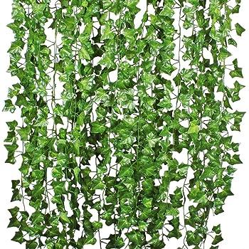 Amazon De Efeu Blatter Garland Kunstliche Pflanzen Attvn 12 Pack