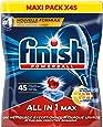 Finish All in One Max Détergent Lave-Vaisselle Taches Tenaces 45 Pastilles