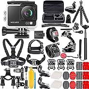 Neewer Fotocamera d'Azione G2 4K WiFi con Touchscreen Videocamera DV Impermeabile Ultra HD 12MP 4K /30FPS EIS Telecamera WiF