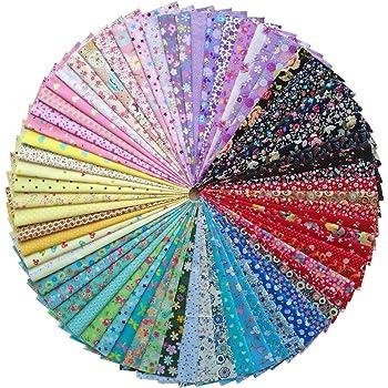 50pcs baumwollstoff patchwork stoffe diy gewebe quadrate baumwolltuch stoffpaket zum n hen mit. Black Bedroom Furniture Sets. Home Design Ideas