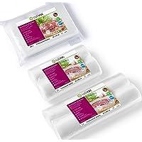 culivac Vacuum Food Sealer Bags 100 PCS 20x30cm    Vacuum Food Sealer Rolls 2 PCS 20x600cm And 2pcs 30x600cm   Professional Set 1