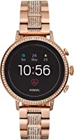 Fossil Womens Smartwatch with Stainless Steel Strap FTW6011
