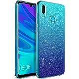 BENTOBEN Huawei P Smart 2019 Hülle Handyhülle Glitzer, Huawei P Smart 2019 Case Slim Anti Gelb Silikon Bumper Cover Ultra dünn Hülle für Huawei P Smart 2019 / Honor 10 Lite Bling Transparent