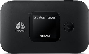 Huawei E5577Cs-321 Mobiler 4G-WLAN-Hotspot (bis 10 Geräte 150 Mbit/s mit microSD-Kartenslot) Schwarz