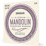 D'Addario EJ70, cuerdas de bronce fosforado para mandolina, terminación de bola, tensión media/blanda, 11-38