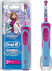 Oral-B Stages Power Kids Elektrische Kinderzahnbürste, im Eiskönigin - völlig unverforen Design