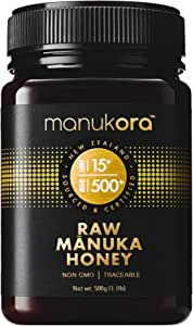 Manukora UMF 15+/MGO 500+ Raw Mānuka Honey (500g/1.1lb) Authentic Non-GMO New Zealand Honey, UMF & MGO Certified, Traceable from Hive to Hand