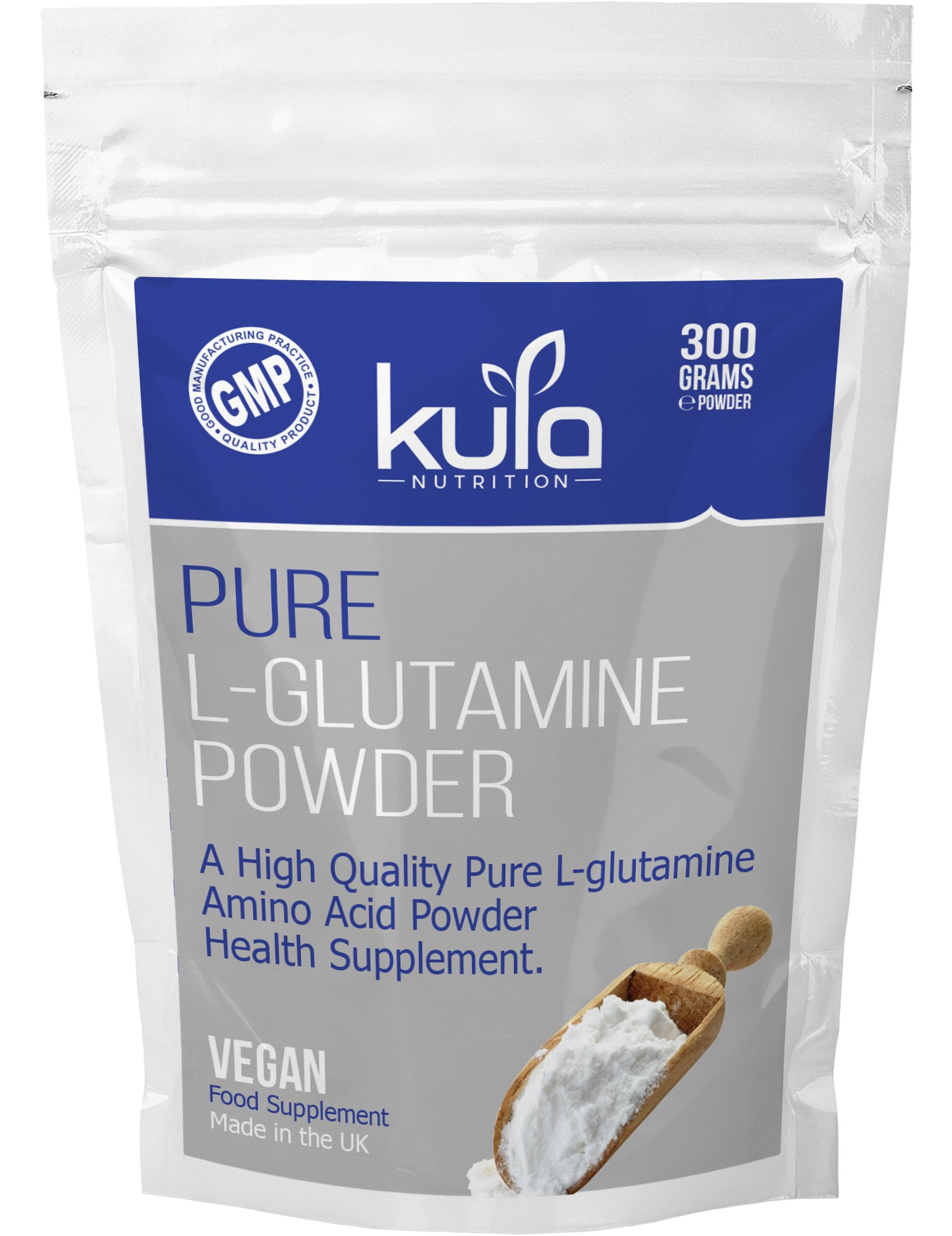 81ghHAJ3f%2BL - Kula Nutrition Pure L Glutamine Powder - 300g (60 Servings) - Amino Acid Powder, Protein Building Blocks - Supplement…