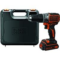 Black+Decker Akku-Schlagbohrschrauber (18 V 1,5Ah, mit bürstenlosem 2-Gang-Getriebe, LED-Arbeitslicht, Anti-Rutsch…