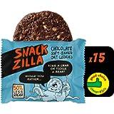 Kids Healthy Snacks Oat Biscuits - Snackzilla 50% Less Sugar Healthy Oat Cookies (15x30g) Children's School Snack Box…