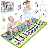 BelleStyle Tappeto Musicale Bambini, 135x59cm Grande Tappetino Pianoforte Bambino, Tappetino da Ballo e Gioca Musicale Tocca