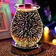 Berührungsempfindliche 3D-Aromalampe, Feuerwerk-Effekt, elektrischer Ölbrenner, Wachsschmelzer, erstaunliche Düfte, um Ihr Zu