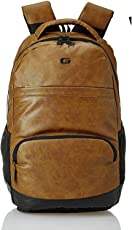 Gear Vintage2 Anti Theft Faux Leather 27 Ltrs Tan Laptop Backpack (LBPVG2LTH1901)