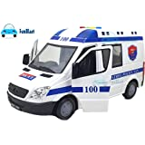 FunBlast Police Van Toy for Kids with Light & Siren Sound Effects – Pull Back Friction Power Police Vehicle Toy for Kids,Boys