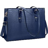 Lubardy Handtasche Damen Shopper Damen Groß Laptop Tasche 15.6 Zoll Elegant PU Leder Umhängetasche Arbeitstasche für…