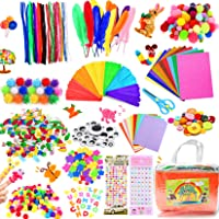 COTTONIX 1100+pcs Bricolage Enfant Pipe Cleaners Crafts Set, DIY Activites Manuelles pour Enfants Comprenant Cure Pipes…