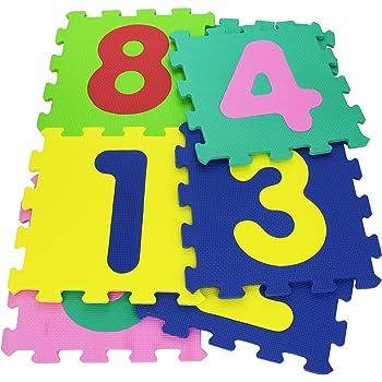 Vitamina G 05094 - Mattonelle Puzzle Numeri, 9 Pezzi