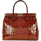 "Belli ""The Bag XL Leder Henkeltasche Handtasche Damen Ledertasche Umhängetasche - 34x25x16 cm (B x H x T)"