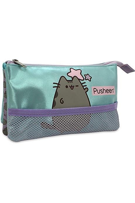 Neceser Triple para Pusheen The Cat Estuche/Neceser Net Rectangular, tamaño Mediano: Amazon.es: Equipaje