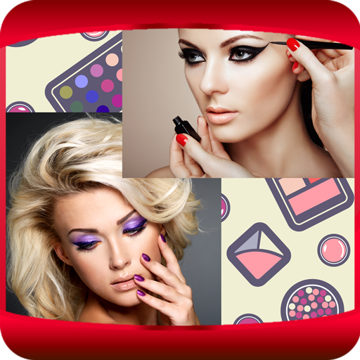 Make-up-Foto-Collage (Pulver Eyeliner)