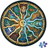 500 Pieces Puzzles for Adults Round Jigsaw Puzzles Zodiac Floor Puzzle Kids DIY Toys for Creative Gift Home Decor - Twelve Co