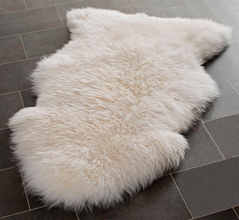 Elegant Genuine Sheepskin Rug With Extra Thick Wool (Extra Large) By Rughouse:  Amazon.co.uk: Kitchen U0026 Home