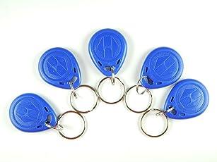 Robo India RF-TAG-KCH Rfid Tag with Keychain, 5 Pieces