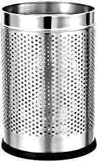 "PARASNATH Stainless Steel Perforated Open Bin Dustbin 7""X10"""