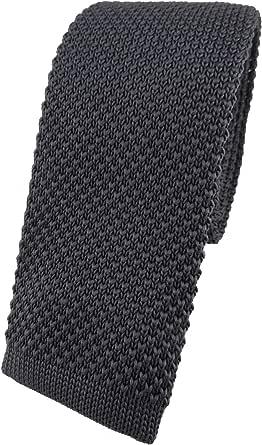 TigerTie Cravatta di alta qualità in tinta unita – Look alla moda grazie al taglio dritto