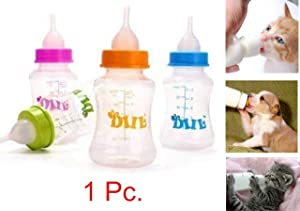 ADIOS Pet Nursing Kit Milk Bottle 150 Ml with Extra Nipple, Bottle Cleaner & Hole Pin- Color May Vary