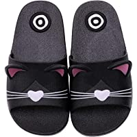 Kids Girls Cute Cat Non-slip Beach slippers Boys slip on Summer Sandals Womens Mens Quick-Dry Aqua Holiday Pool Shoes…