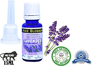 Nice Blossom Lavender Essential Oil 15 ml 100% Pure Natural & Undiluted