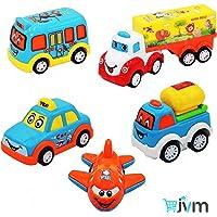 JVM Unbreakable Pull Back Friction Power Car Set for Kids - Set of 5