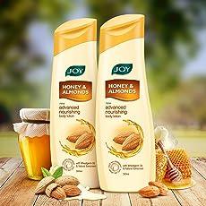 Joy Honey & Almonds Advanced Nourishing Body Lotion, For All Skin Type, Ideal For Men & Women (Pack of 2 X 300ml)