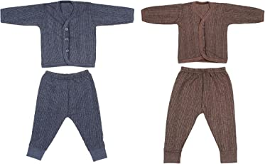 Littly Front Open Baby Thermal Set, Pack of 2 (Dark Colors)