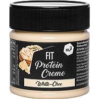 nu3 Fit Protein Crème 200g- Pâte à tartiner sans huile de palme goût Chocolat Blanc - Pâte à tartiner protéinée végétarienne avec 21% de protéines - Sans sucre ajouté et sans gluten