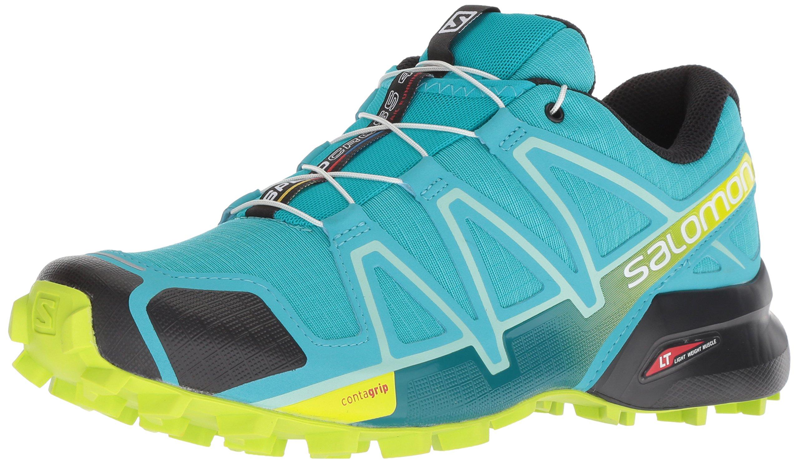 Original- elegante Form Großhandel Salomon Damen Speedcross 4 Traillaufschuhe , Blau (Bluebird/Acid  Lime/Black) , 40 EU