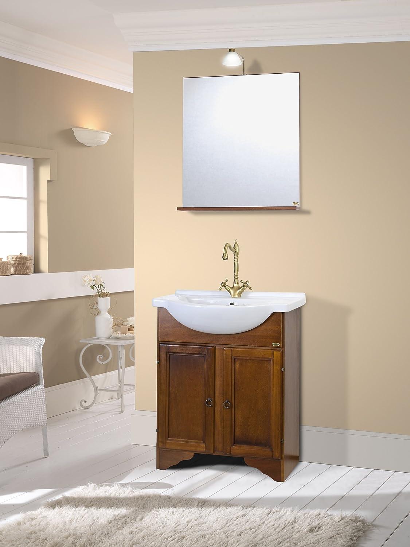 Mobile da bagno classico in legno con lavabo arte povera: Amazon ...