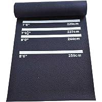 HOMCOM Dartmatte Gummimatte Dartzubehör für Steeldart Softdart Teppich Gummi rutschfest Schwarz+Weiß 300 x 61 x 0,3 cm