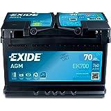 EXIDE EK700-L3 AGM bilstartbatteri, svart